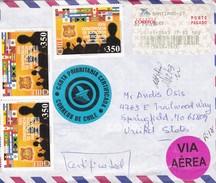 XXIV CONFERENCIA EJERCITOS AMERICANOS. CARTA PRIORITARIA CERTIFICADA. VIA AEREA. CHILE TO USA/EEUU 2003 - BLEUP - Chili