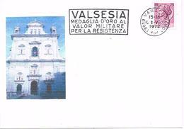 26244. Tarjeta VARALLO (VO) Italia 1972. Valor Militare Resistenza. VALSESIA - 6. 1946-.. Repubblica