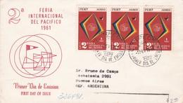 2DA FERIA INTERNACIONAL DEL PACIFICO. CIRCA 1960. LIMA, PERU -FDC - BLEUP - Perú