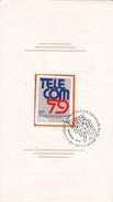 EXPOSICION MUNDIAL TELECOMUNICACIONES: TELECOM GINEBRA. 1979. PERU - FDC - BLEUP - Peru