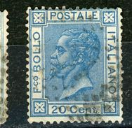 ITALIE : SOUVERAIN N° Yvert 23 Obli. - 1861-78 Vittorio Emanuele II