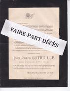 Faire-part Décès Dom Joseph BUTRUILLE, Bénédictin Congrégation Saint-Pierre De Solesmes, Wisques, 1896 - Esquela