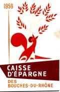 FRANCE. Calendrier De La Caisse D'épargne De 1959. - Calendriers