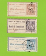 3 Timbres Bulletins De Communication No22,24,25. - Telegraph And Telephone