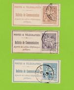 3 Timbres Bulletins De Communication No22,24,25. - Télégraphes Et Téléphones