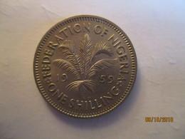 Nigeria: 1 Shilling 1959 - Nigeria