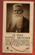 Image Pieuse Double Holy Card Le Père Daniel Brottier - Relique étoffe - Devotion Images