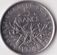 Pièce De 5 Francs Semeuse 1970 - France
