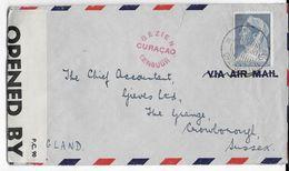 CURACAO - 1940 - ENVELOPPE Par AVION Avec CENSURE De ARUBA => CROWBOROUGH (GB) - Curaçao, Nederlandse Antillen, Aruba
