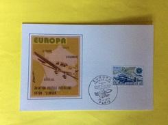 Poste Aerienne Europa Enveloppe 1er Jour Aviation Postale Intérieure Avion Simoun Avec Volet - 1960-.... Lettres & Documents