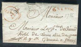 France - Lettre Avec Texte De Paris Pour Paris En 1786 , Cachets De La Petite Poste De Paris - Ref N 127 - Postmark Collection (Covers)