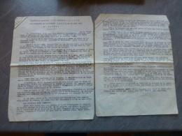Guerre D'INDOCHINE SAIGON Allocution Du Cap. Lacombe Obsèques Lt. JAVET 18 Août 46, Ref 122 VP37 - Documents Historiques