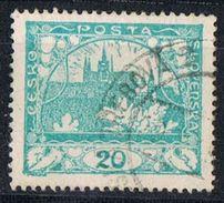 Sello 20 H. Chescoslovaquia, HRADCANY,  Dentado 13 3/4,  Yverrt Num  33D º - Used Stamps