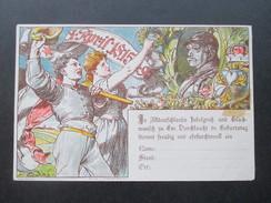 DR 1895 Privatganzsache 80.Geburtstag Fürst Von Bismarck. Künstlerkarte. 1. April 1815 - 1895 - Brieven En Documenten