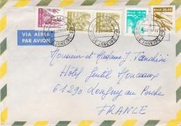BRESIL  :  Divers Sur Lettre Pour La France . Oblitération Leme Rio De Janeiro 1985 - Brazilië