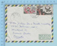 Gabon - Air Mail, Cover Bitam 1963, To Montreal Canada - Gabon (1960-...)