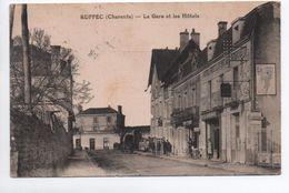 RUFFEC (16) - LA GARE ET LES HOTELS - Ruffec