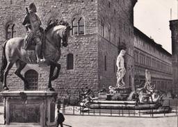 FIRENZE - PIAZZA SIGNORIA E MONUMENTO A COSIMO I VG   AUTENTICA 100% - Firenze (Florence)