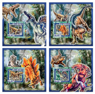MOZAMBIQUE 2015 ** Dinosaurs Dinosaurier Dinosaures S/S DELUX - IMPERFORATED - DH1744 - Prehistorisch