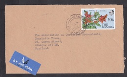 Gambia: Airmail Cover To UK, 1979, 1 Stamp, Coral Tree Flowers, Air Label (opened At 3 Sides) - Gambia (1965-...)