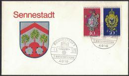 "AU54  Germany 1973 Coat Of Arms, Wappen "" Sennestadt "" - Buste"