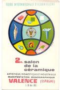 CP - Foire Bourse Salon De La Céramique - Valence Espagne 1963 - Bourses & Salons De Collections