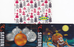 3 Gift Cards - - -  Christmas  - - -  Germany  - - -  Ikea / Saturn - Gift Cards