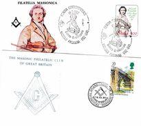 208 - FRANCE : 2 X FDC Maçonniques - Freemasonry