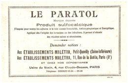"""P Pa/Buvard Produit Sulfocalcique """"Le Paratol"""" (N= 1) - Buvards, Protège-cahiers Illustrés"""