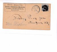 209 - FANCY Vers 1860 : De Boston. Equerre Et Compas. - Francmasonería