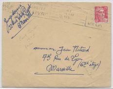 """1950 - GANDON - FAUX De MARSEILLE POUR TROMPER LA POSTE RARE SUR LETTRE - RECONNAISSABLE Au 1 De """"15"""" Au F De """"RF"""" - Postmark Collection (Covers)"""