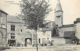 SAINT POURCAIN SUR SIOULE - Ancienne Prison Et Vieille Tour, Caserne De Sapeur Pompiers.(ELD éditeur). - France