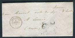 France - Lettre Avec Texte De Argentan En 1851 Pour La Mayenne - Ref N 140 - Marcophilie (Lettres)
