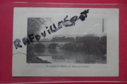 Cp  Sermaize Les Bains Pont Sur La Saulx Train Colorisee - Sermaize-les-Bains