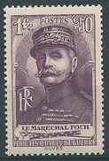 FRANCE - YT N°455 - 1f. + 50 C. Violet - Maréchal Ferdinand Foch - Neuf** - TTB Etat - France