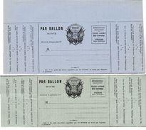 210 - FRANC-MACONNERIE (MASONIC) : Formulaires De BALLONS MONTES Avec SYMBOLES (4 Documents) - Francmasonería