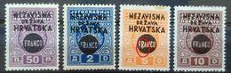 NDH-FRANCO-SET-ERROR B-NDH-CROATIA-1941 - Kroatien