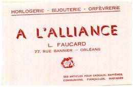 (Buvard D 12)   Buvard Horlogerie Bijouterie A L'Alliance - Blotters