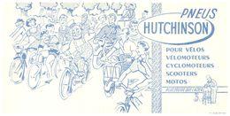 P H/Buvard Pneus Hutchinson (Format 21 X 10)  (N= 1) - Buvards, Protège-cahiers Illustrés
