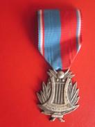Médaille  France, Confédération Musicale De France, Medal, Très Bon état, Argent--Moret Paris - France