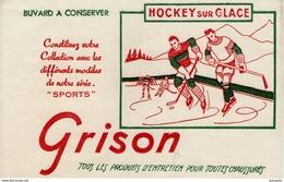BUVARD  - Blotter - Chaussure GRISON - Sport - Hockey Sur Glace - Buvards, Protège-cahiers Illustrés