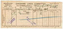 (I.B) Cheshire Lines Committee Railway : Newspaper Parcel (Liverpool 1900) - Zonder Classificatie