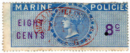 (I.B) Malaya (Straits Settlements) Revenue : Marine Policies 8c - Great Britain (former Colonies & Protectorates)