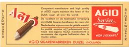 Bladwijzer - Pub Reclame Agio Sigaren Fabriek Duizel - Kalender 1952 - 1953 - Marque-Pages