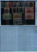 86444) 1920 GERMANIA OCCUPAZIONI ALLESTEIN 14 VAL UNIF 15-28 USATI - Allemagne