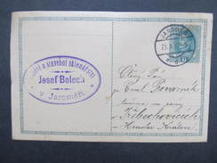 GANZSACHE Jaromer - Trebechovice Josef Bolech 1917 Korrespondenzkarte /// D*28147 - 1850-1918 Imperium