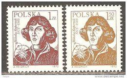 Poland 1972 Mi# 2230-2231 ** MNH - Nicolaus Copernicus / Space - 1944-.... Republic
