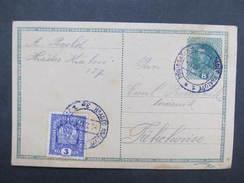 GANZSACHE Hradec Kralove 3e - Trebechovice  Korrespondenzkarte /// D*28149 - 1850-1918 Imperium
