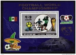 COREE DU NORD     BF 43  * *  SURCHARGE ( Cote 8 E) Cup  1986  Football  Soccer Fussball - Coupe Du Monde