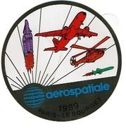 Autocollant     Paris Salon Le Bourget  1989 Aerospatiale #100mm - Stickers